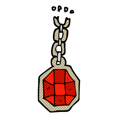 pendant: freehand drawn cartoon huge gem pendant
