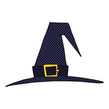 pointy hat: freehand drawn cartoon witch hat