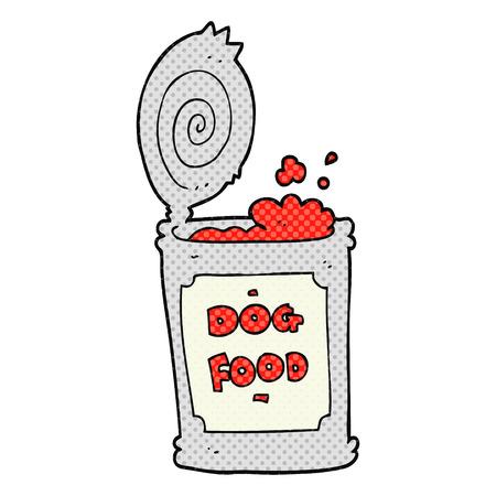 cartoon dog: freehand drawn cartoon dog food