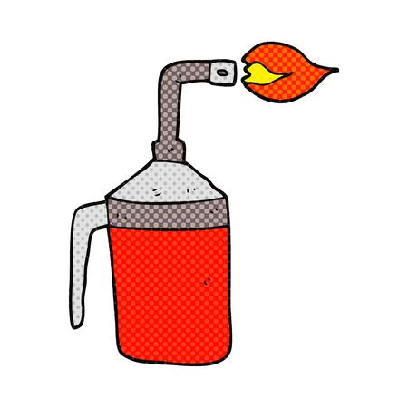 blow: freehand drawn cartoon blow torch Illustration