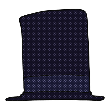 top hat: freehand drawn cartoon top hat
