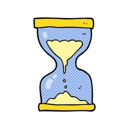 sand timer: freehand drawn cartoon sand timer hourglass Illustration