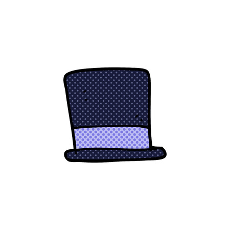 top hat cartoon: freehand drawn cartoon top hat