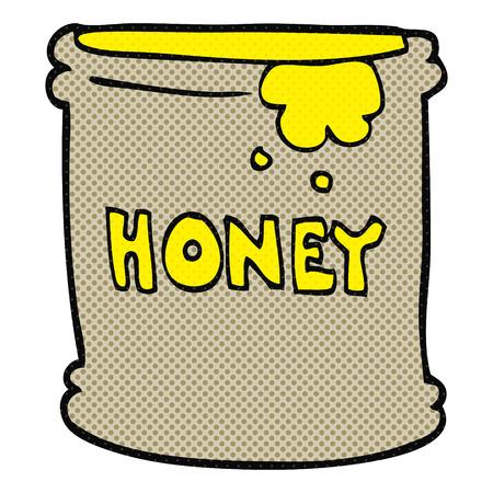 honey pot: freehand drawn cartoon honey pot