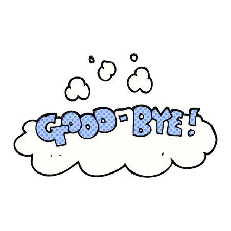 good bye: freehand drawn cartoon good-bye symbol