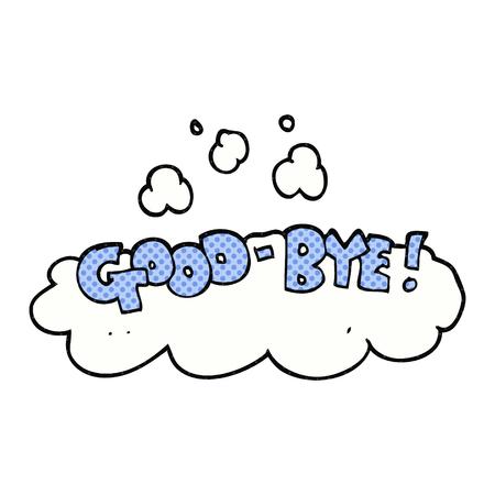 Freihändig gezeichnete Karikatur good-bye Symbol Standard-Bild - 53349315