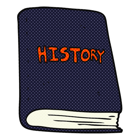 history book: freehand drawn cartoon history book
