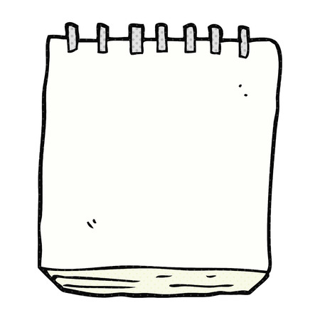 note pad: freehand drawn cartoon note pad