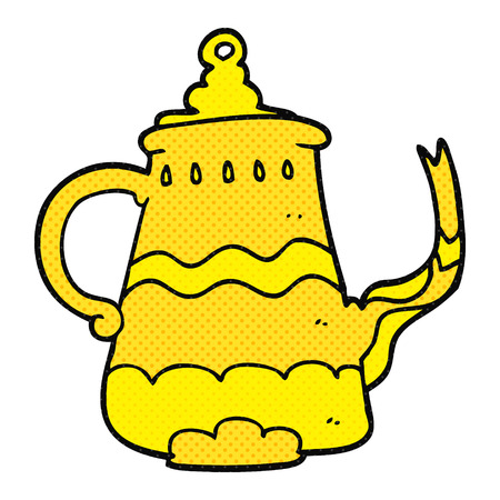 fancy: freehand drawn cartoon fancy coffee pot Illustration