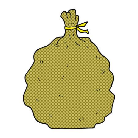 sack: freehand drawn cartoon sack Illustration