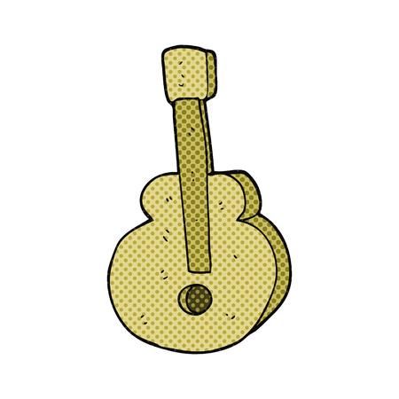 free clip art: freehand drawn cartoon guitar Illustration