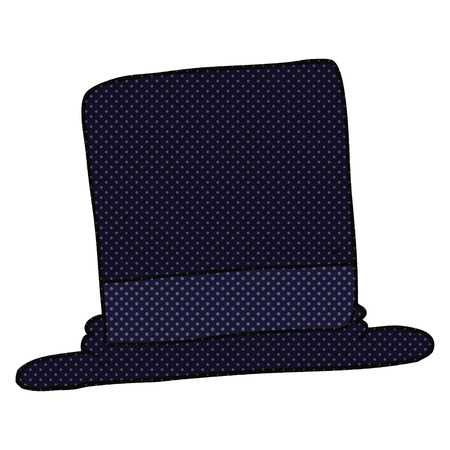 top: freehand drawn cartoon top hat