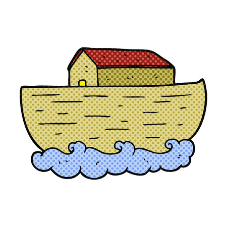 noahs: freehand drawn cartoon noahs ark Illustration