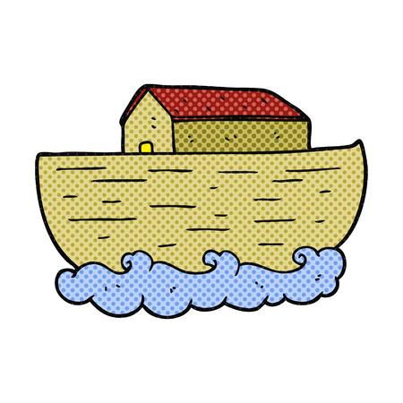 freehand drawn cartoon noahs ark Illustration