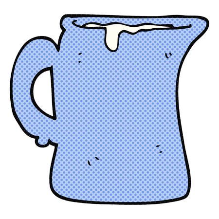 jug: freehand drawn cartoon milk jug Illustration
