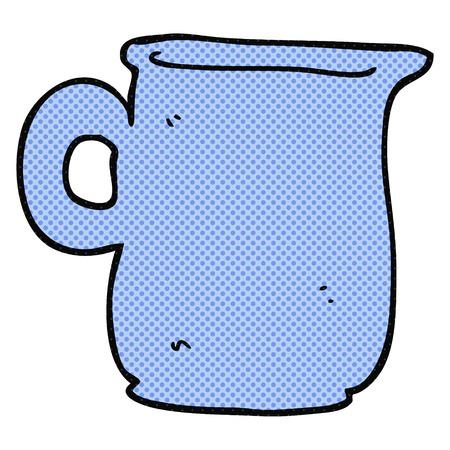 milk jug: freehand drawn cartoon milk jug Illustration