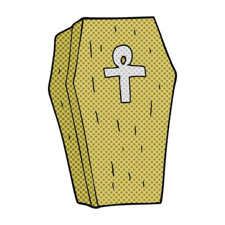 trumna: odręczne rysowane kreskówki Spooky trumny