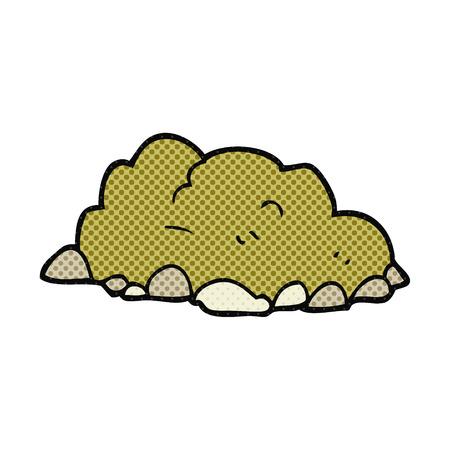 dirt pile: freehand drawn cartoon pile of dirt Illustration