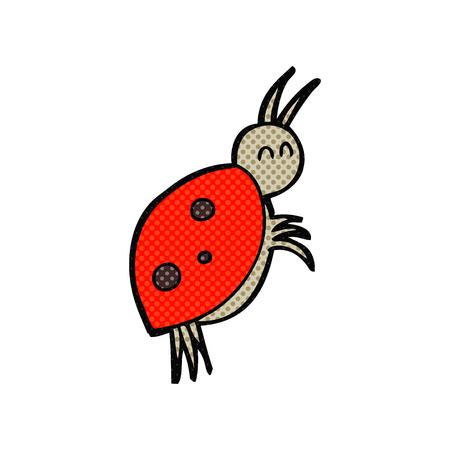 ladybug: freehand drawn cartoon ladybug