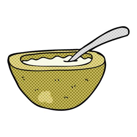 freehand drawn cartoon porridge Ilustração