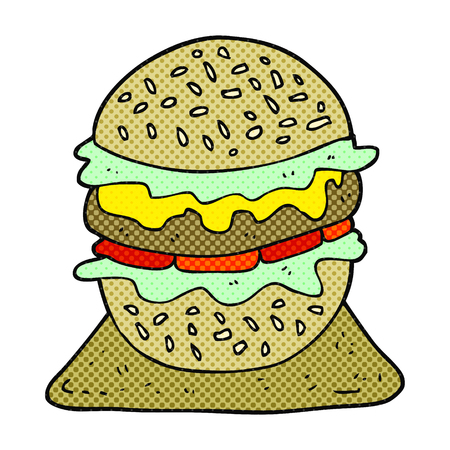 tasty: freehand drawn cartoon tasty burger