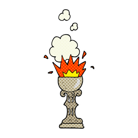 grail: freehand drawn cartoon magic goblet Illustration
