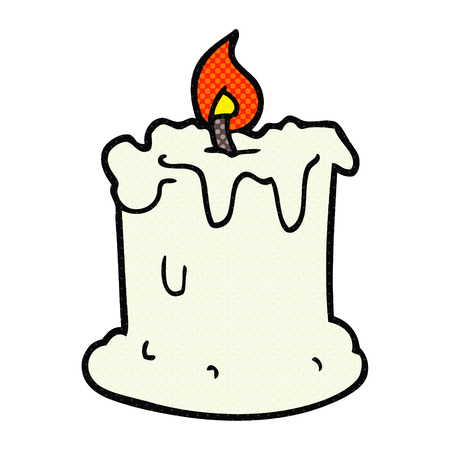 dribbling: freehand drawn cartoon dribbling candle