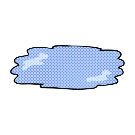 puddle: freehand drawn cartoon puddle