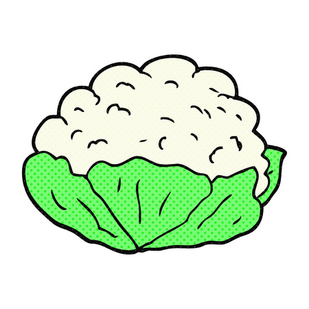 cauliflower: freehand drawn cartoon cauliflower