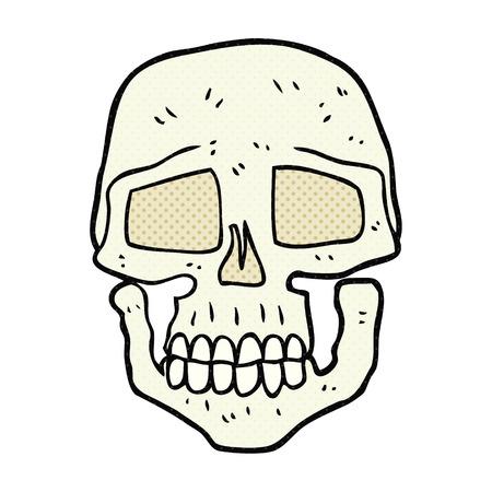 calavera caricatura: freehand drawn cartoon skull
