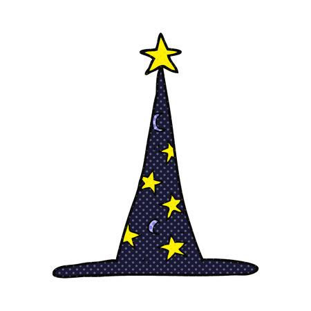 sombrero de mago: sombrero de mago mano alzada dibujo animado hecho