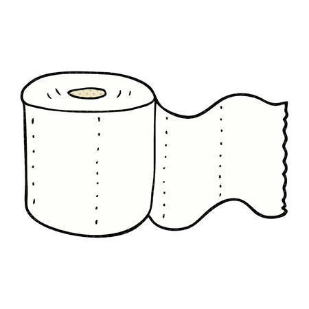 toilet paper art: freehand drawn cartoon toilet paper