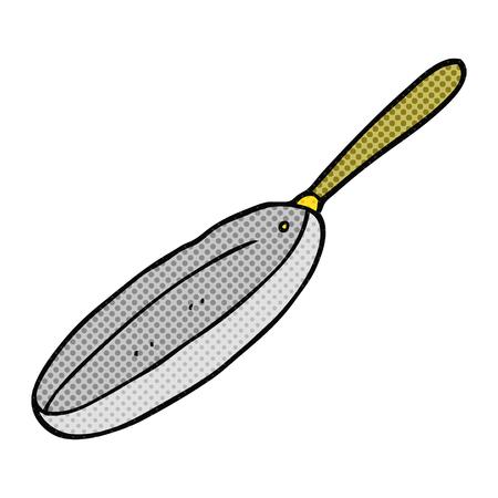 frying: freehand drawn cartoon frying pan