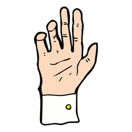 cuffs: freehand drawn cartoon hand reaching