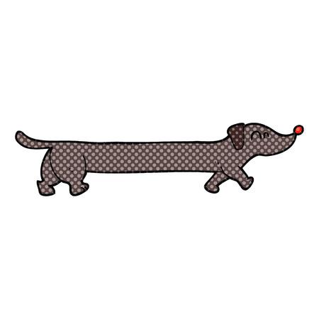 dachshund: freehand drawn cartoon dachshund