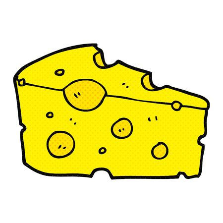 holey: freehand drawn cartoon cheese