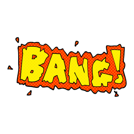 bang: freehand drawn cartoon bang symbol