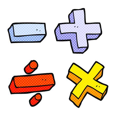 Freehand Drawn Cartoon Math Symbols Royalty Free Cliparts Vectors