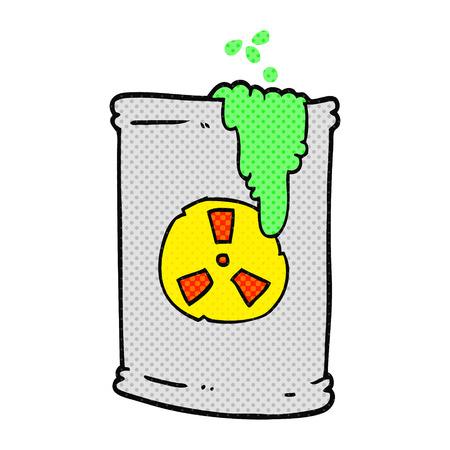 radioactive waste: freehand drawn cartoon radioactive waste