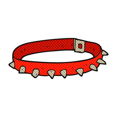 by the collar: freehand drawn cartoon dog collar