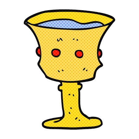 grail: freehand drawn cartoon medieval cup