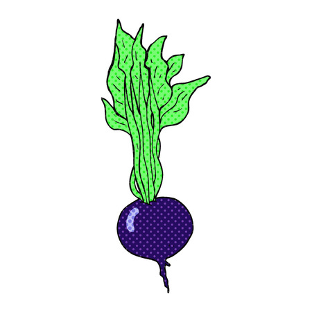 beetroot: freehand drawn cartoon beetroot