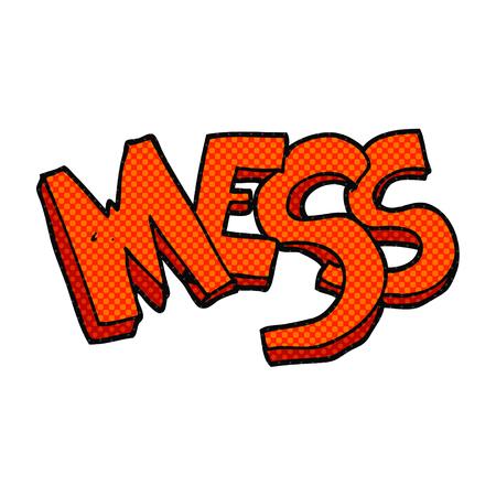 mess: freehand drawn cartoon mess