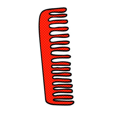 comb: freehand drawn cartoon comb