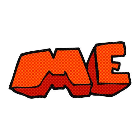 me: freehand drawn cartoon ME symbol