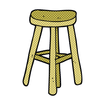 stool: freehand drawn cartoon stool Illustration