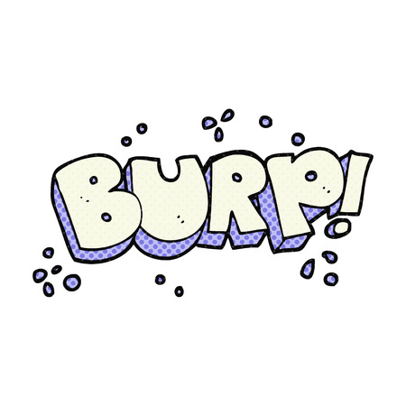 belch: freehand drawn cartoon burp text