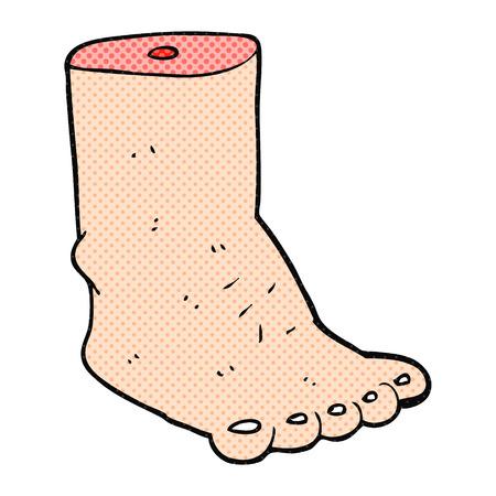 freehand drawn cartoon foot Illustration