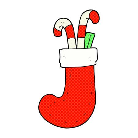 christmas stocking: freehand drawn cartoon christmas stocking