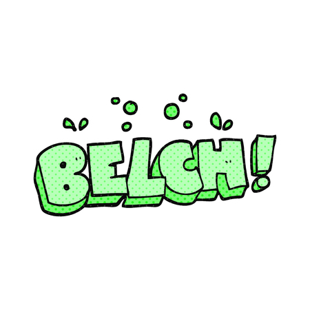 belch: freehand drawn cartoon belch text